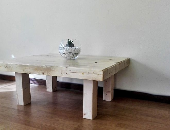 Butchers block coffee table 1