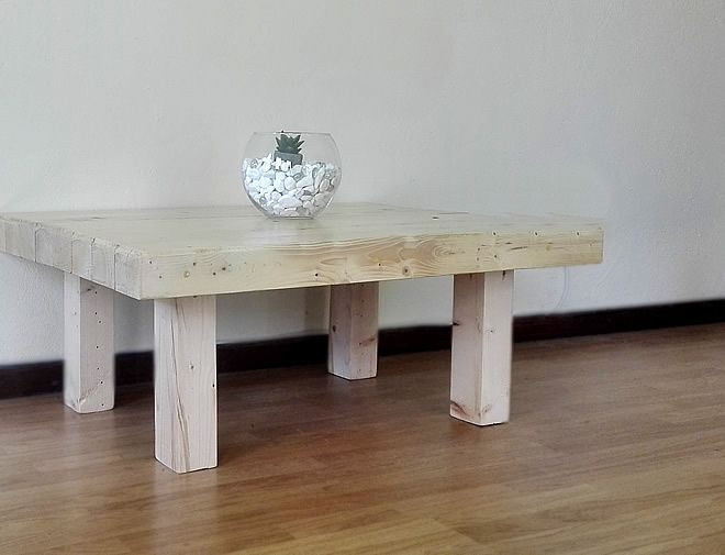 Butchers block coffee table 3