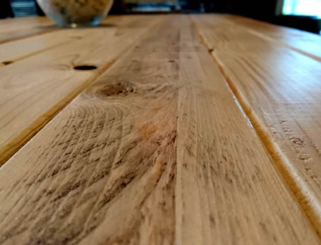 rustic pallet dining table 3