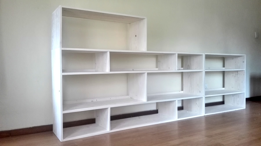 White Wash TV stand wall unit