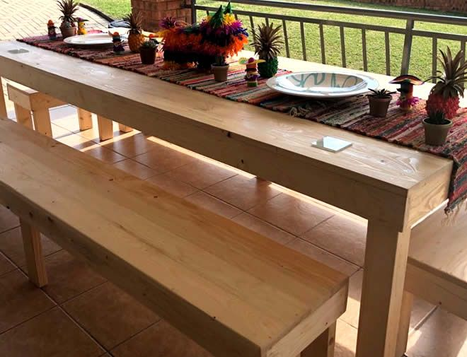 10 seater block dining table 2
