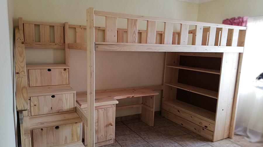 Kid's All-In-One Bunk Bedroom