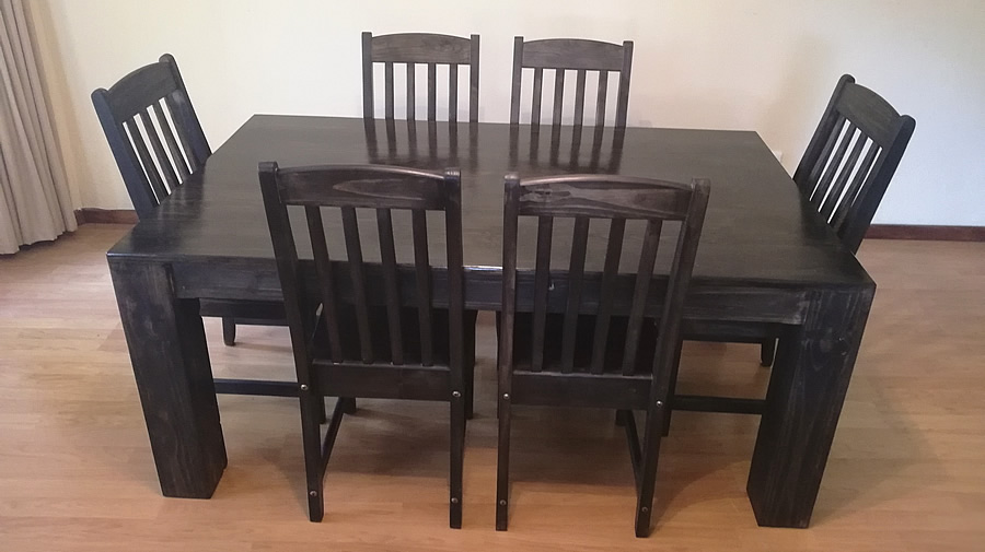 Bold Dining Set | 6 Seater | Charcoal