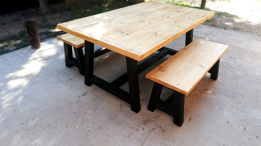 Industria Dining Set | 6 Seater
