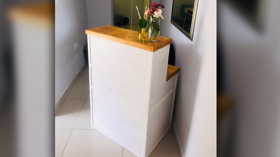 Single Reception Desk | 2 Tone